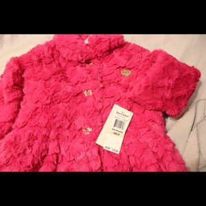 Toddler faux Juicy Couture coat